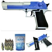 KWC Silver & Blue Co2 Airsoft Desert Eagle with 5000BB & CO2 Capsules